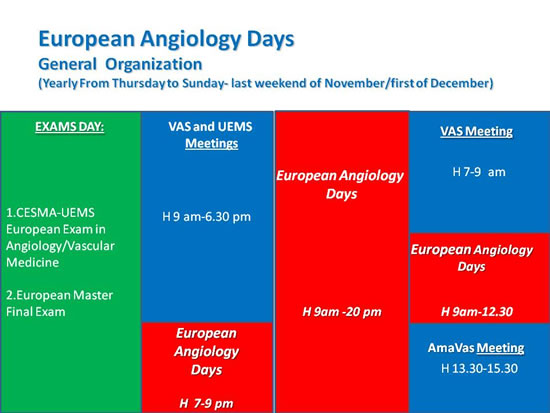European Angiology Days general organization