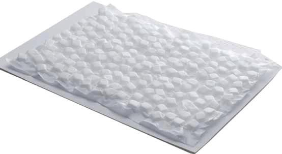 They consist of foam cubes inserted between 2 layers of material