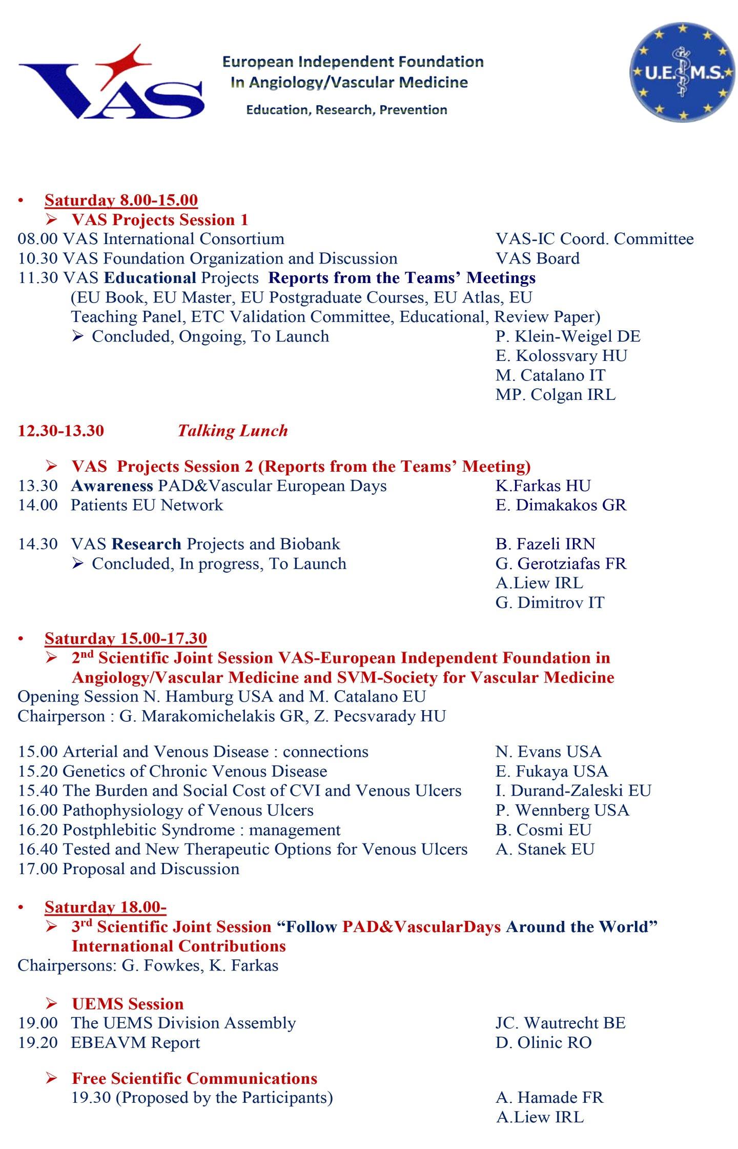 15thEADays Draft program2018 November 1 2